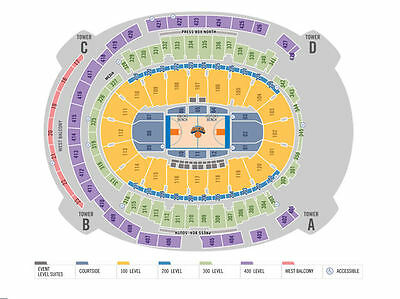2 Tickets New Orleans Pelicans At New York Knicks 11 15 15 Madison