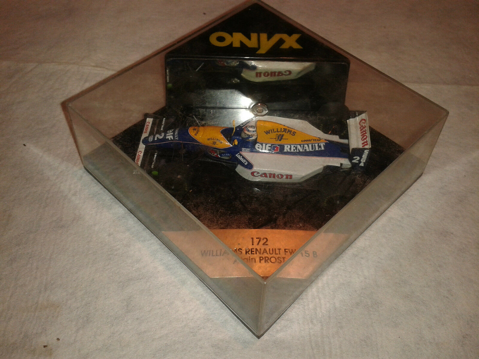 ONYX 172 172 172 WILLIAMS RENAULT FW 15 B ALAIN PROST CAR 1 43 MINIATURE COLLECTOR 3b1c9d