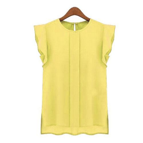 Fashion Women Casual Loose Sleeveless Chiffon Vest Tank T Shirt Blouse Tops New