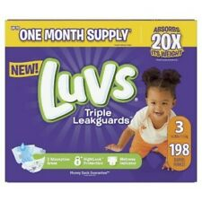 Luvs Ultra Leakguards Disposable Baby Diapers One Month Supp 198 Count Size 3