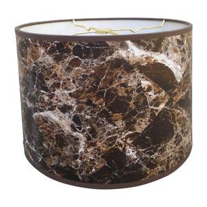 Royal designs dark brown marble texture hardback lamp shade ebay image is loading royal designs dark brown marble texture hardback lamp aloadofball Image collections