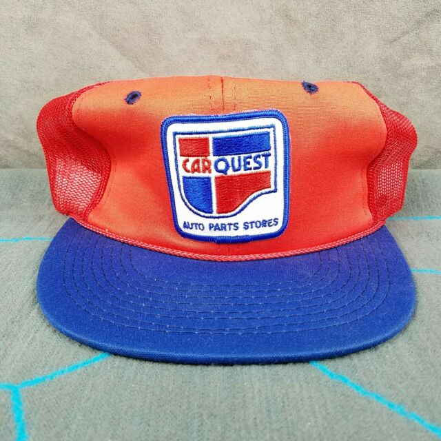 Quest Auto Parts >> Car Quest Auto Parts Mesh Snapback Trucker Hat Cap Embroidered Patch Red Blue