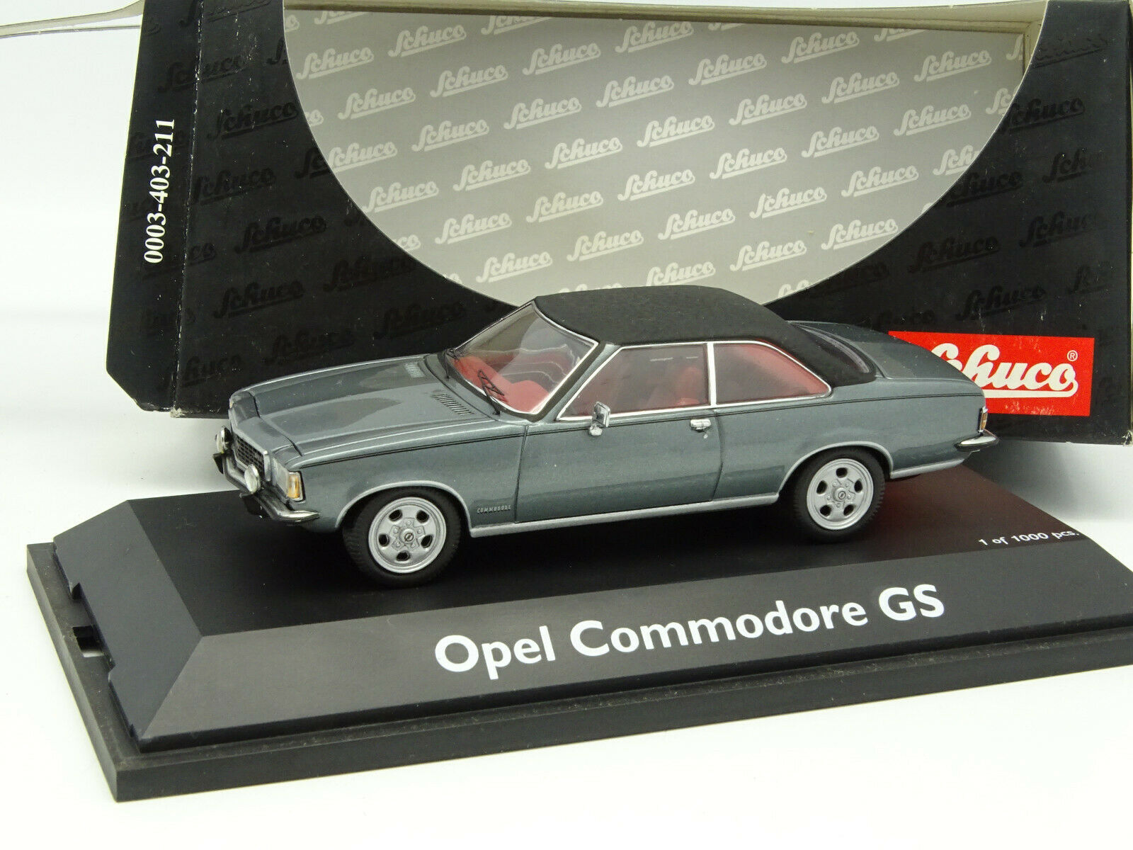 Schuco 1/43 - Opel Commodore GS Grigio