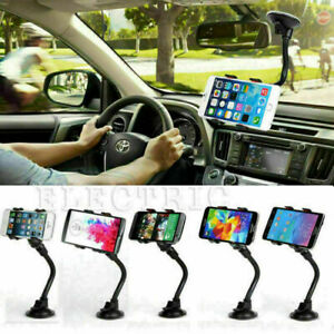 360° Stand Mount Holder Car Windshield For Cell Phone GPS iPhone Samsung Black