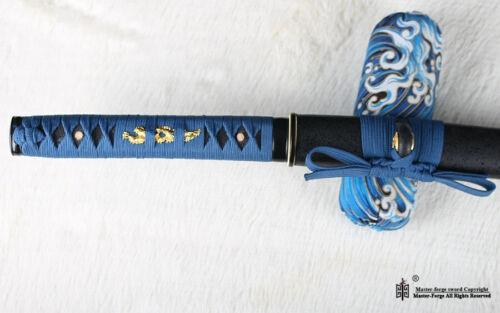hand forged 9260 spring steel Japanese Samurai Sword Wakizashi full tang sharp.
