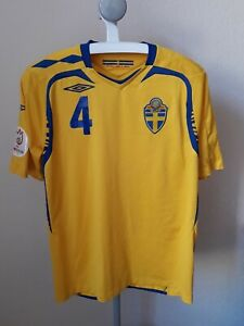the best attitude 061c3 a830f Details about Sweden National Team EURO 2008 Qualifying Football Shirt  Umbro Size L Large #4