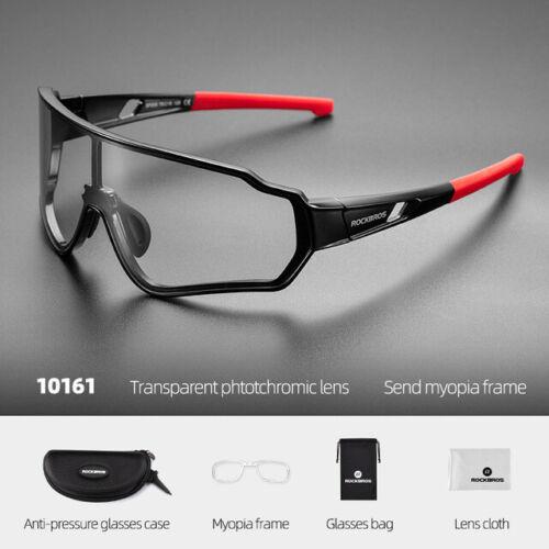 ROCKBROS Photochromatic Sunglasses Outdoor Sports Cycling 100/%UV400 Full Frame