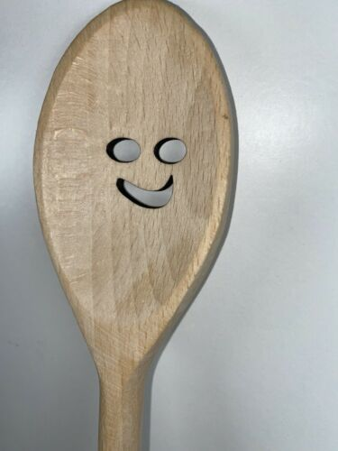 Star Laser Cut Wooden Spoons Smile Face Heart 300mm Quality Spoons