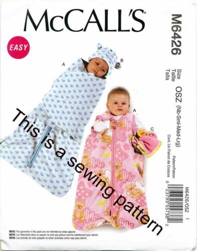 Mccalls Sewing Pattern 6426 Baby Nb L Sleeping Bag Removable