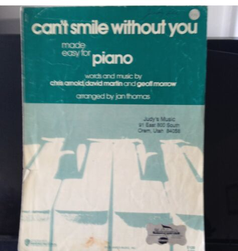 Can/'t Smile Without You made easy for Piano Arranged by Jan Thomas