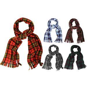 Super écharpe Douce, Confortable Et Chaud Tartan Carreaux Polaire écharpes Avec Tassles-afficher Le Titre D'origine