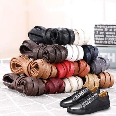 DailyShoes Round Waxed Shoelaces Oxford Flat Dress Canvas Sneaker Shoe Laces
