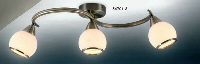 Lampada da soffitto Design Spot Lampada Altmessing spot soffitto cromo Plafoniera Lampada