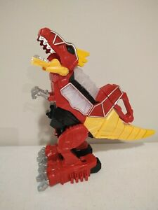 MMPR Power Rangers Dino Charge RUMBLE & ROAR T-Rex Zord Red Megazord TESTED
