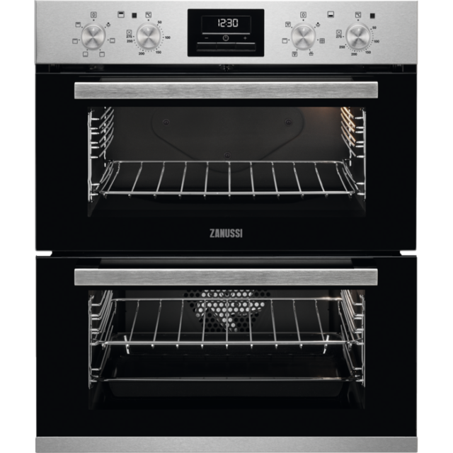 GRADED Zanussi ZOF35601XK Built In Double Oven - Stainless Steel/Black (5650)
