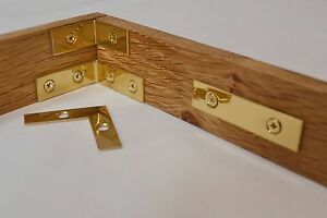Image Is Loading Box Cabinet Corner Braces Plate Polished Solid Brass