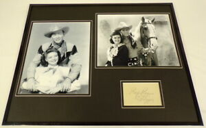 Roy Rogers Signed Framed 16x20 Photo Display