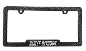 Harley-Davidson Carbon Fiber Look Metal License Plate Frame for Cars