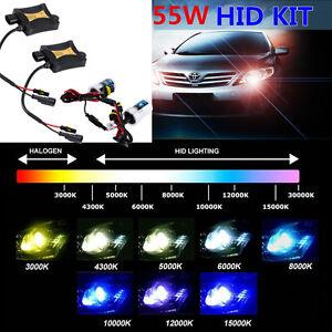 55W-HID-Xenon-Bulbs-Headlight-Slim-Ballast-Conversion-Kit-H1-H3-H4-H7-9005-900-J
