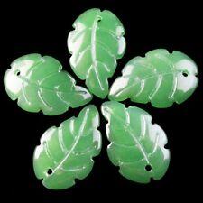 50x12mm Carved Green Jade Dragon Donut Pendant Bead