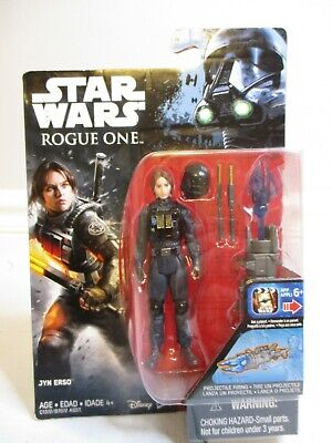 """Star Wars Rogue One 3.75/"""" Jyn Erso Imperial Ground Crew Disguise Loose Complete"""