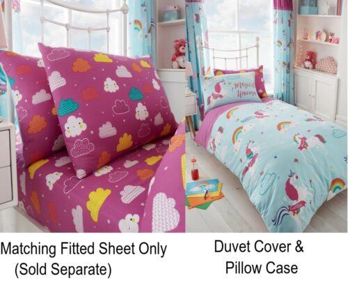 Unicorn Fairy Tale Kids Teens Single Duvet Cover Children Bedding Set Or Sheet