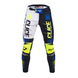 17-XS-S-M-XL-XXL-Clice-Cero-Trials-Bottoms-Trousers-blue-white-yellow-black
