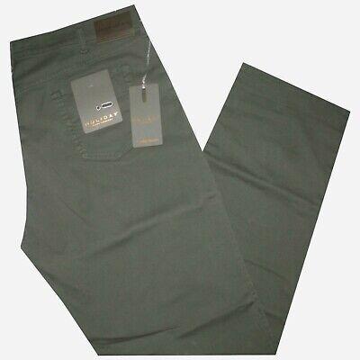 Pantalone Uomo Jeans Taglie Forti 62 64 66 68 Holiday Gabardin Strech Verde Frod