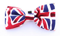 Union Jack Dicky Bow Tie - MEDIUM- for Puppy , Dog , Cat - PPB