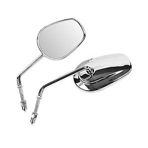 Chrome-TAPERED-MIRRORS-HARLEY-TOURING-SOFTAIL-DYNA-XL-FATBOY-ELECTRA-GLIDE-FLHX