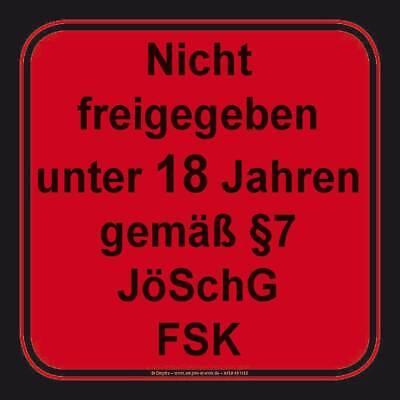 10x FSK ab 18 freigegeben Aufkleber Etiketten Sticker Alterskennzeichnung 18 J.