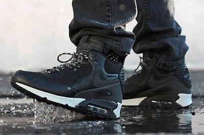 Nike Air Max 90 Sneakerboot Black Grey WaterProof Mens Shoes Sz 8.5 684714 001 | eBay