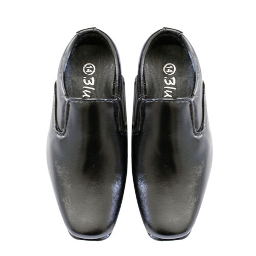 NEW Kids Boys Formal Leather Shoes Pageboy  Black wedding shoes