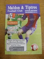 17/09/2013 Maldon And Tiptree v Burnham Ramblers [Incorrectly Dated: 24/09/2013]