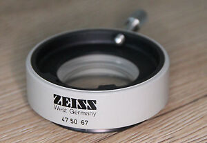 Zeiss-Mikroskop-Microscope-Stereomikroskop-Objektiv-Vorsatzlinse-0-5x-47-50-67
