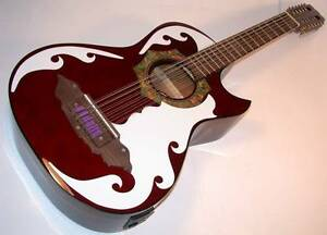 barraza bajo sexto 12 string acoustic electric guitar spruce top bzbs101e 805232023328 ebay. Black Bedroom Furniture Sets. Home Design Ideas