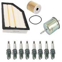 Volvo Xc90 V8 4.4l 05-07 Air Oil Fuel Filters + 8 Spark Plugs Platinum Resistor on Sale