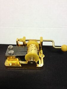 Hand wind gears musical movements classical goldplated Lot of 5