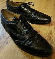 d1c1a6085f8 Cerruti 1881 Mens Shoes Size 7.5 Real Leather Black Brogue Great For Proms