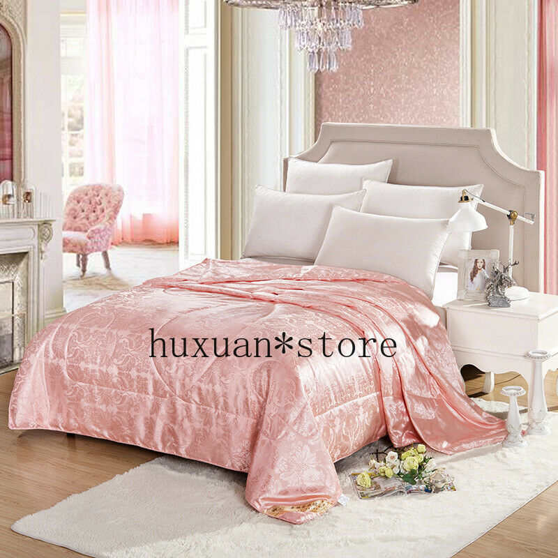 Silk Summer Quilt Air Condition Blanket Satin Jacquard Large Sz Adult Comforter