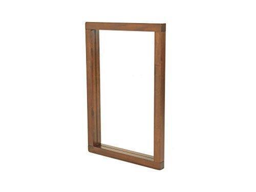 Acacia Dark Solid Wood Wall Mirror Grünical Rectangle Hallway Bedroom LivingRoom