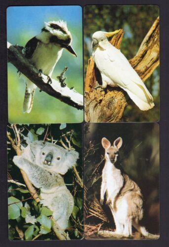 Kookaburra /& Cockatoo x 4 Vintage Swap//Playing  Cards Koala Kangaroo