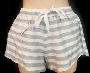 telaio e con Tie Belt Nwt Blue 24 Cotton Taglia 198 White New Pantaloncini Oqa51