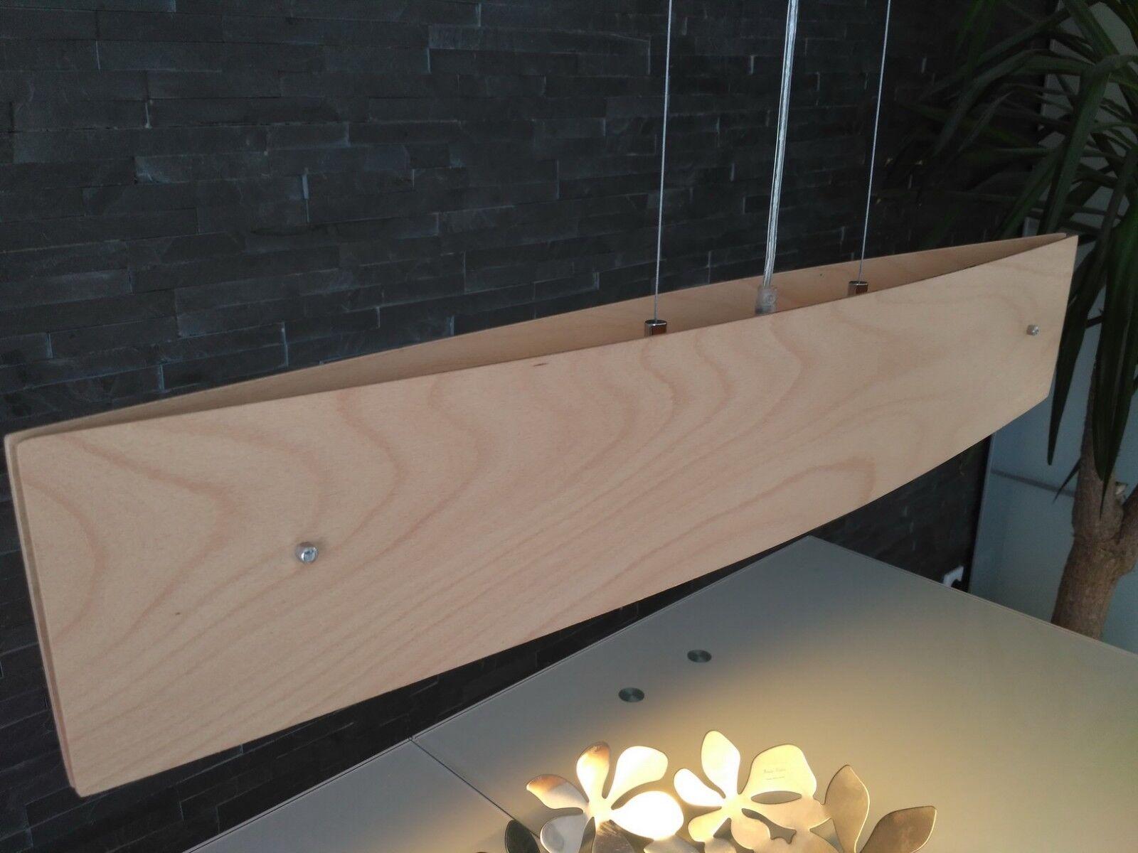 Pendelleuchte  Balu  dimmbar (Design, Modern) in Beige aus Holz Hängelampe Lampe