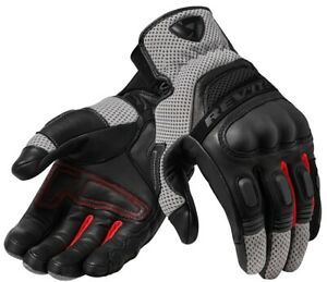 GUANTI-GLOVE-REV-039-IT-DIRT-3-NERO-ROSSO-BLACK-RED-PELLE-TOURING-PROTEZIONI-TG-M