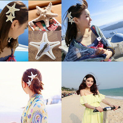 Sweet Women Girls Beauty Starfish Beach Sea Hair Clip Pin Barrettes Accessories