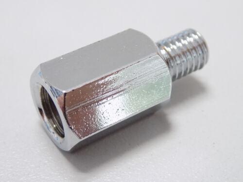 M10 Rechtsgewinde universal Chrom Spiegel Spiegeladapter Adapter M8
