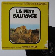 """Vinyle 33T Vangelis Papathanassiou  """"La fête sauvage"""""""