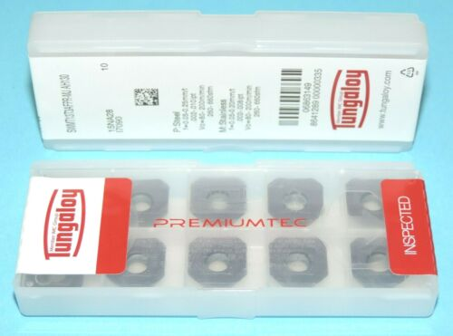 SWMT 13T3AFPR-MJ AH130 TUNGALOY CARBIDE INSERTS ** 10 PIECES SEALED PACK **