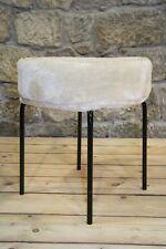 DDR Stoff Hocker, Vintage Retro Design Kult Stuhl chair